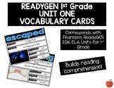ReadyGEN 2016 1st Grade Unit 1 Vocabulary Cards