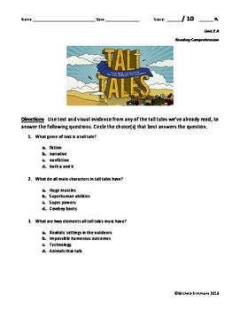 ReadyGEN 2016- 4th Grade- 2.A Tall Tale Assessment