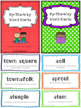 ReadyGEN 2016 Grade 1 Unit 4 Module A & B By-The-Way Word Cards