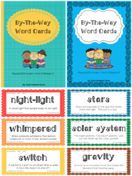 ReadyGEN 2016 Grade 1 Unit 5 Module A & B By-The-Way Word Cards