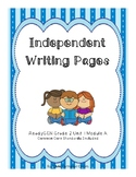 ReadyGEN 2016 Grade 2 Unit 1 Module A Independent Writing Pages