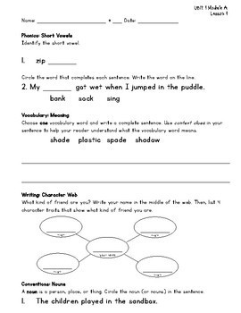 ReadyGEN 2nd Grade Lesson Check, Homework or Morning Work for the ENTIRE YEAR