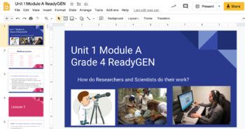 ReadyGEN 4th Grade Unit 2 Module A Activites