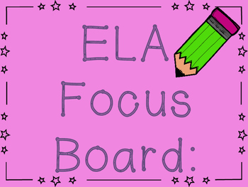 ReadyGEN 5th Grade Focus Board- PRINT and GO!