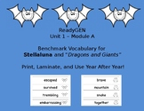 """ReadyGEN Benchmark Vocabulary for Stellaluna and """"Dragons and Giants"""""""