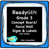 ReadyGEN Concept Board Headers for Third Grade
