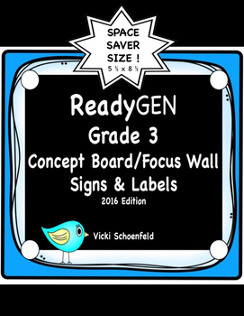 ReadyGEN Concept Board Headers for Third Grade Space Saver Size