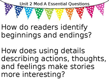 ReadyGEN Essential Questions Posters 2nd Grade