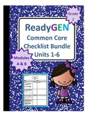 ReadyGEN First Grade Common Core Checklist Bundle Units 1-6