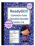 ReadyGEN First Grade Common Core Checklist Bundle Units 1-6