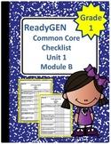 ReadyGEN First Grade Common Core Checklist Unit 1 Module B