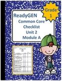 ReadyGEN First Grade Common Core Checklist Unit 2 Module A