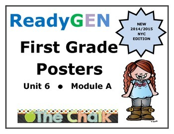 ReadyGEN First Grade Posters Unit 6 Module A