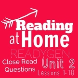 ReadyGEN- Grade 3 -Unit 2 Module A- Close Read Questions f