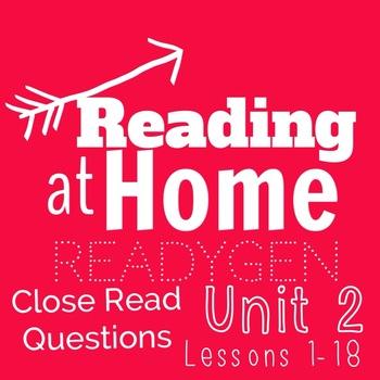 ReadyGEN- Grade 3 -Unit 2 Module A- Close Read Questions f
