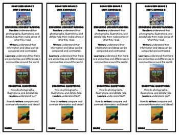 ReadyGEN Grade 3 Unit 2 Module B Enduring Understandings Bookmark and Poster