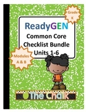 ReadyGEN Kindergarten Common Core Checklist Bundle Units 1-6