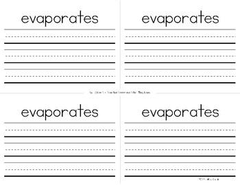 ReadyGEN Kindergarten Unit 3 Vocabulary Interactive Notebook Bundle