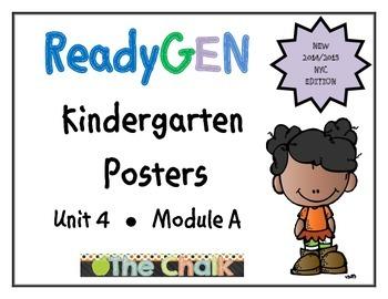 ReadyGEN Kindergarten Unit 4 Module A Posters