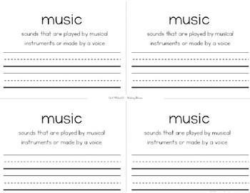 ReadyGEN Kindergarten Unit 4 Vocabulary Interactive Notebook Bundle