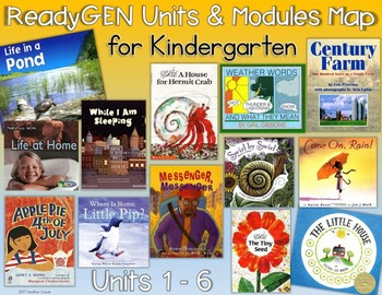 ReadyGEN Kindergarten Units and Modules Book Map