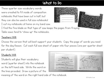 ReadyGEN Kindergarten Vocabulary Interactive Journal Prompts {FREE}
