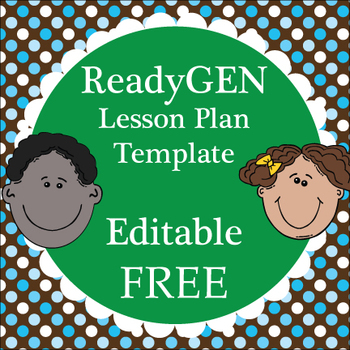 Readygen Lesson Plan Template Editable Word Document By Free Tpt