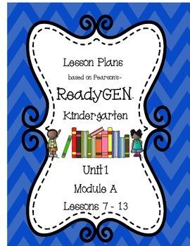 ReadyGEN Lesson Plans (Kindergarten) Unit 1, Module A, Days 7-13