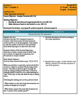 ReadyGEN Unit 1A Lesson Plans and Vocab Words w/ Definition & Visuals - Editable