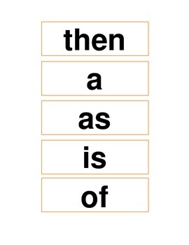ReadyGEN (Ready GEN) Phonics Unit 1 High-Frequency Words for Word Wall