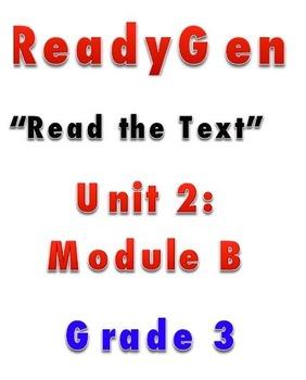 ReadyGEN READ THE TEXT 2B Gr 3 Lesson Plans *DANIELSON FORMAT*