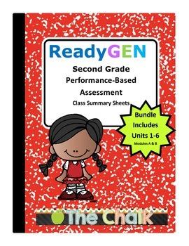 ReadyGEN Second Grade Performance-Based Assessment Class Summary Bundle