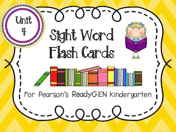 ReadyGEN Sight Word Flash Cards Kindergarten Unit 4