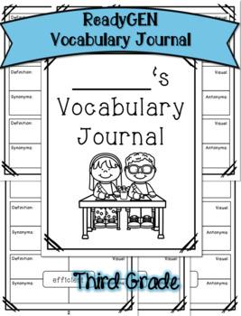 ReadyGEN Third Grade Vocabulary Journal