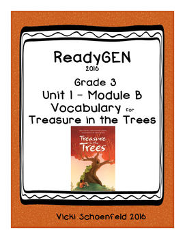 ReadyGEN Treasure in the Trees Vocabulary