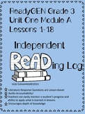ReadyGEN Unit 1-A Grade 3 Independent Reading Log Questions