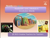 ReadyGEN Unit 1 Module A - Vocabulary Word Wall Cards with