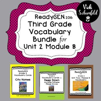 ReadyGEN Unit 2 Module B Vocabulary Bundle Pack