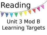 ReadyGEN Unit 3 Mod B Reading and Writing Learning Target Posters