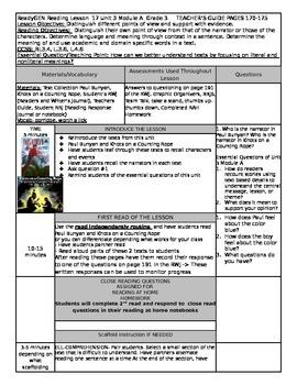 ReadyGEN Unit 3 Module A Lesson 17 Grade 3