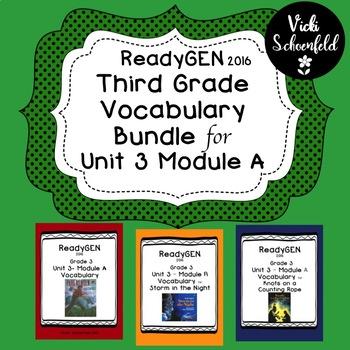 ReadyGEN Unit 3 Module A Vocabulary Bundle Pack