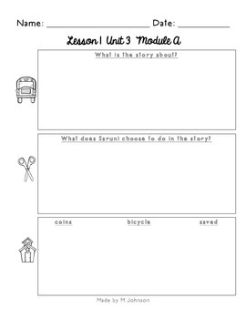 ReadyGEN Unit 3 Module A Work Pages