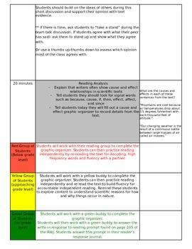 ReadyGEN Unit 3 Module B Lesson 2 Grade 3 Weather