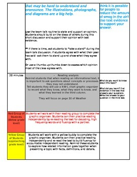 ReadyGEN Unit 3 Module B Lesson 6 Grade 3 Weather