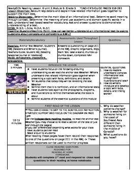 ReadyGEN Unit 3 Module B Lesson 6 Grade 3 Weather