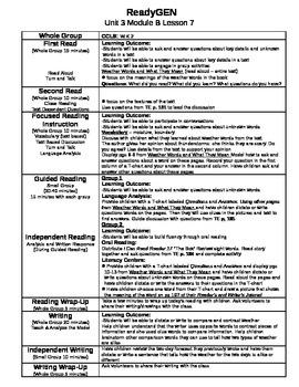 ReadyGEN Unit 3 Module B Lessons 1-12 Kindergarten