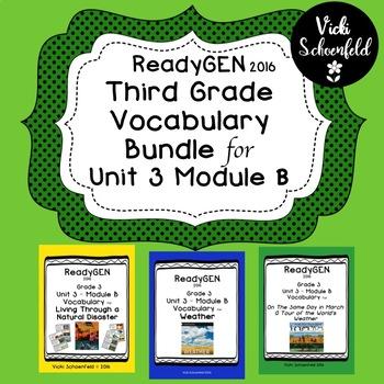 ReadyGEN Unit 3 Module B Vocabulary Bundle Pack