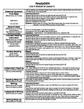 ReadyGEN Unit 4 Module B Lessons 1-12 Kindergarten