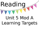 ReadyGEN Unit 5 Mod A Reading and Writing Learning Target Posters