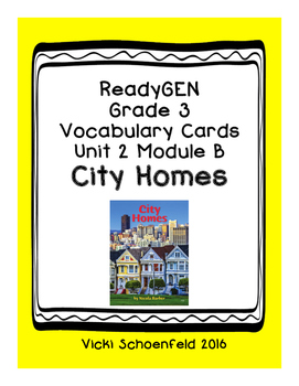 ReadyGEN Vocabulary City Homes